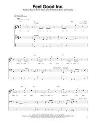 Download Feel Good Inc Sheet Music By Gorillaz - Sheet Music