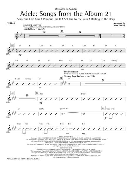 Download Adele: Songs From The Album 21 (Medley) - Guitar Sheet ...