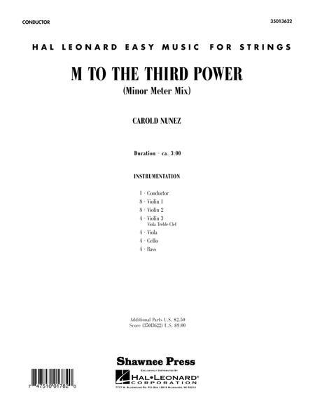 M To The Third Power (Minor Meter Mix) - Score