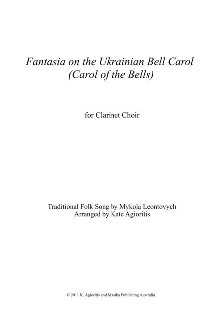Fantasia on the Ukrainian Bell Carol - for Clarinet Choir