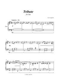 Tribute - for Solo Piano