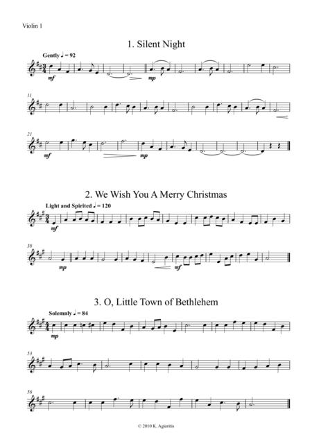 Fifteen Traditional Carols for String Orchestra - Violin 1 Part