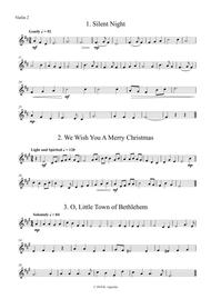 Fifteen Traditional Carols for String Orchestra - Violin 2 Part