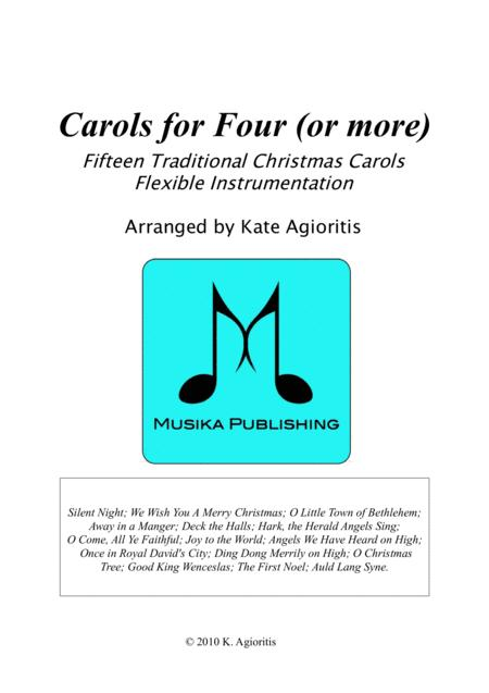 Carols for Four (or more) - Fifteen Carols with Flexible Instrumentation - Condensed Score