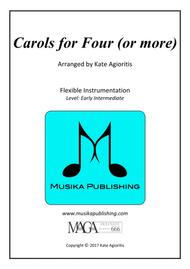 Carols for Four (or more) - Fifteen Carols with Flexible Instrumentation - Part 1 - Bb Treble Clef