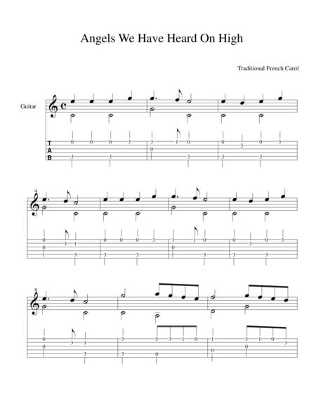 Christmas Guitar Tabs Fingerstyle.Download Easy Finger Style Christmas Tab Sheet Music By