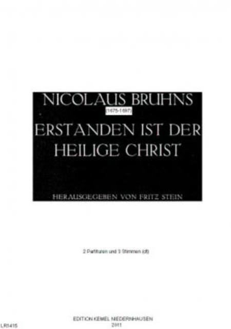 Erstanden ist der heilige Christ : Choralkantate fur zwei Tenore (Soprane), zwei Violinen und Basso continuo