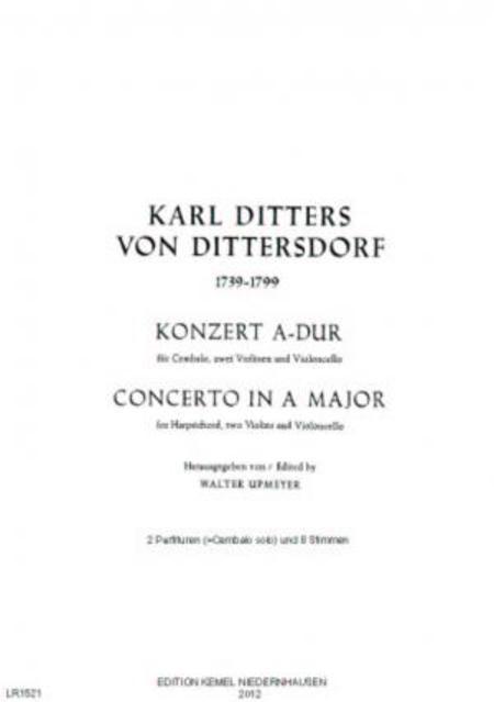 Konzert A-dur : fur Cembalo, zwei Violinen und Violoncello