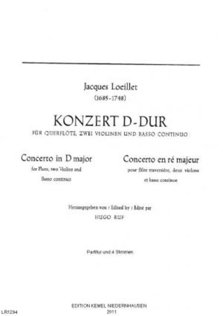 Konzert D-dur : fur Querflote, zwei Violinen und Basso continuo
