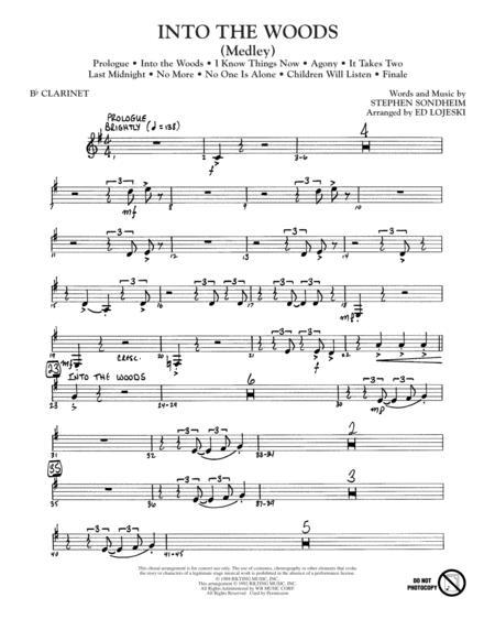 Into The Woods (Medley) - Bb Clarinet