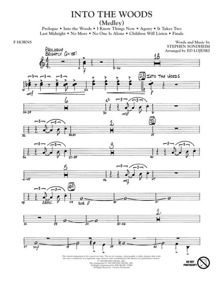 Into The Woods (Medley) - F Horn 1 & 2