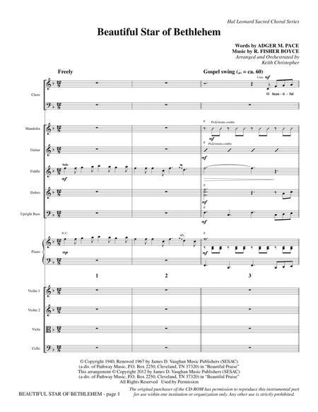 Beautiful Star Of Bethlehem - Full Score
