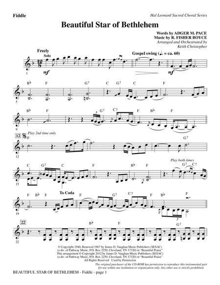 Beautiful Star Of Bethlehem - Fiddle