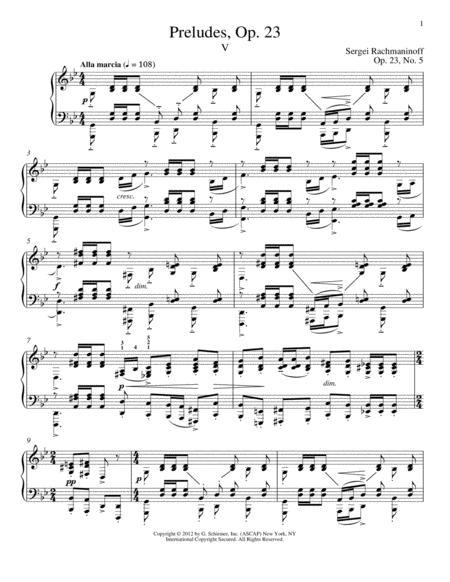 Prelude In G Minor, Op. 23, No. 5