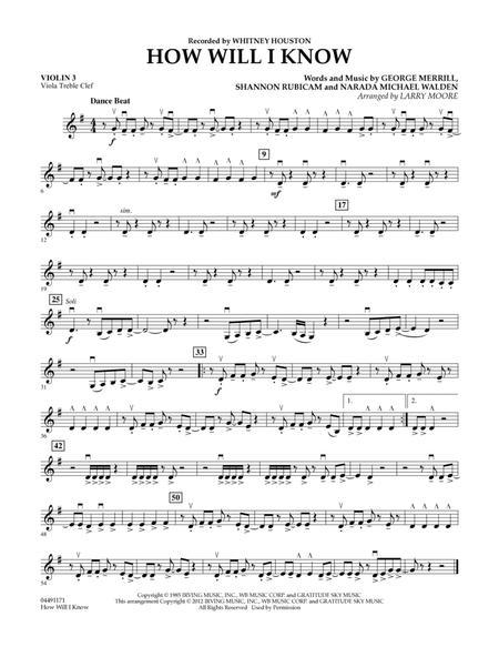 How Will I Know - Violin 3 (Viola Treble Clef)