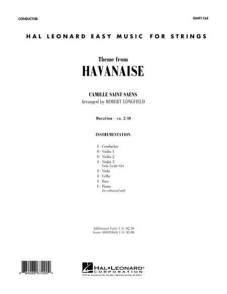 Theme From Havanaise - Full Score