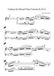 Cadenza for Mozart Flute Concerto K 313-1