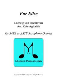 Fur Elise - in a Jazz Style - For Saxophone Quartet