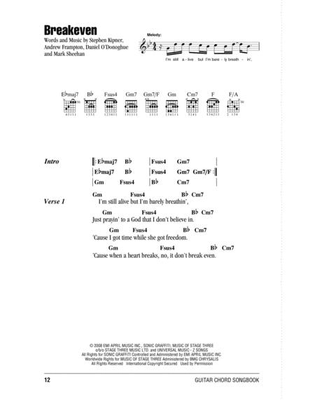 Preview Breakeven By The Script (HX.251030) - Sheet Music Plus