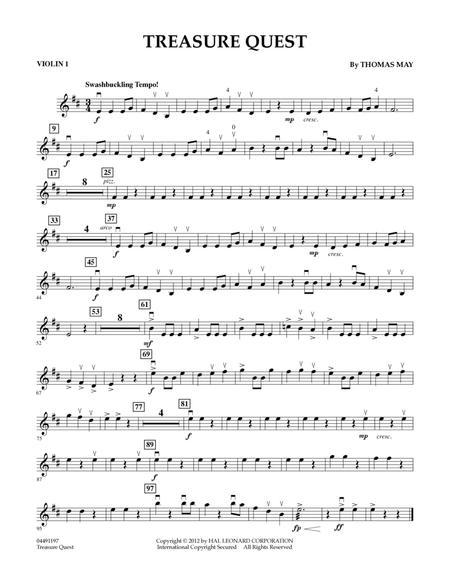 Treasure Quest - Violin 1
