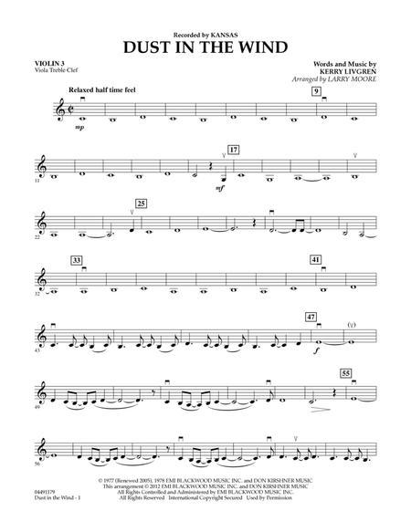 Dust In The Wind - Violin 3 (Viola Treble Clef)