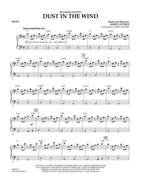 Download Dust In The Wind Piano Sheet Music By Kansas Sheet
