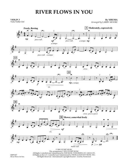 River Flows In You - Violin 3 (Viola Treble Clef)