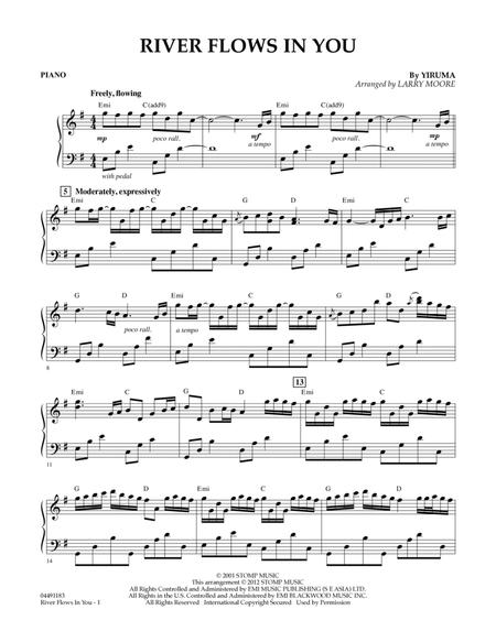 free piano sheet music river flows in you