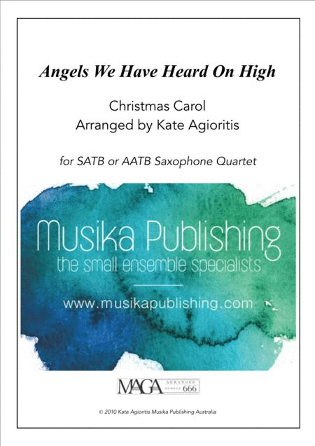 Angels We Have Heard on High - Jazz Carol for Saxophone Quartet