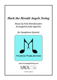 Hark the Herald Angels Swing - Jazz Carol for Saxophone Quartet
