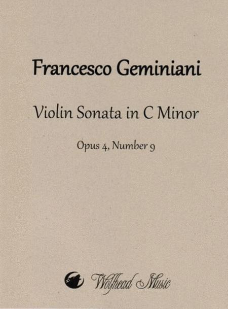 Violin Sonata in C Minor, op. 4, no. 9