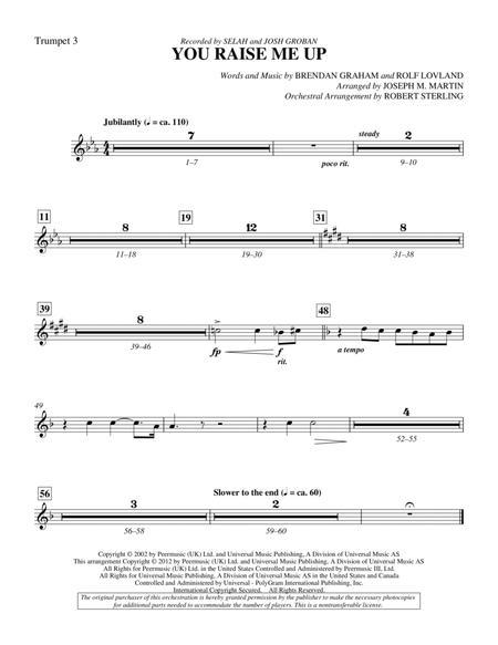 You Raise Me Up - Bb Trumpet 3