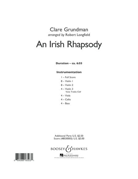 An Irish Rhapsody - Conductor Score (Full Score)
