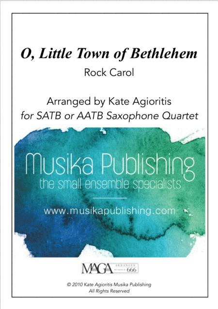 O Little Town of Bethlehem - Jazz Carol for Saxophone Quartet