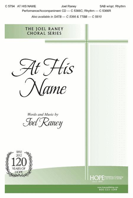 At His Name