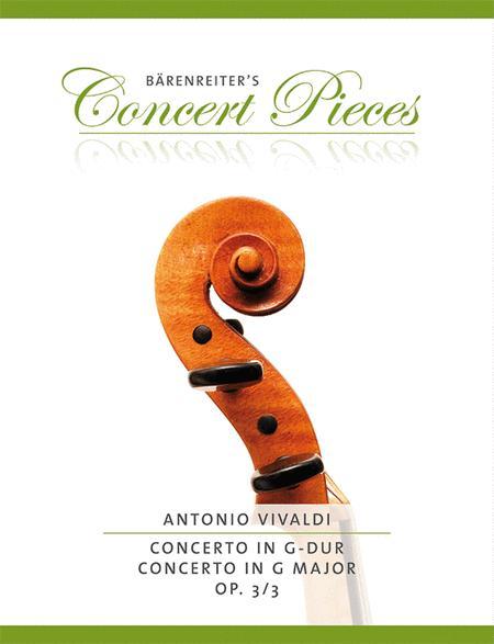 Concerto G major, Op. 3/3