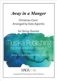 Away in a Manger - Jazz Carol for String Quartet