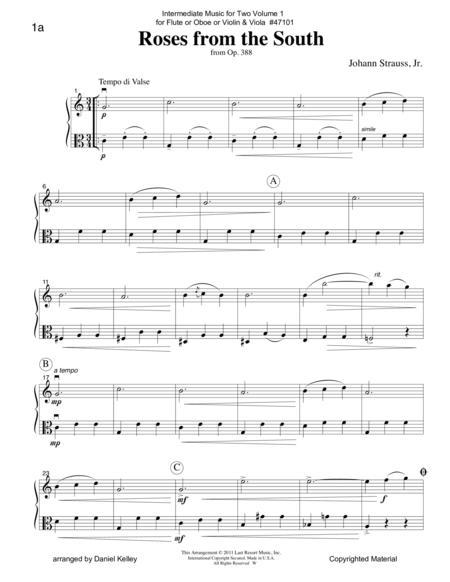 Intermediate Music for Two, Volume 1 - for Flute or Oboe or Violin & Viola
