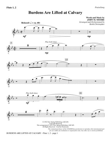 Download Burdens Are Lifted At Calvary Flute 1 2 Sheet Music By