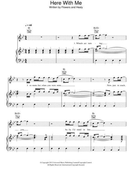 Download Here With Me Sheet Music By The Killers - Sheet Music Plus