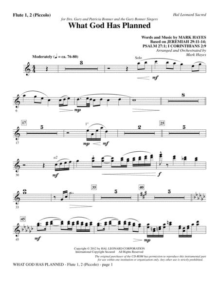 What God Has Planned - Flute 1,2/Piccolo