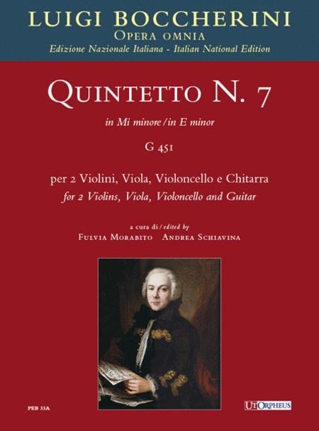 Quintet No. 7 in E minor (G 451) - Score