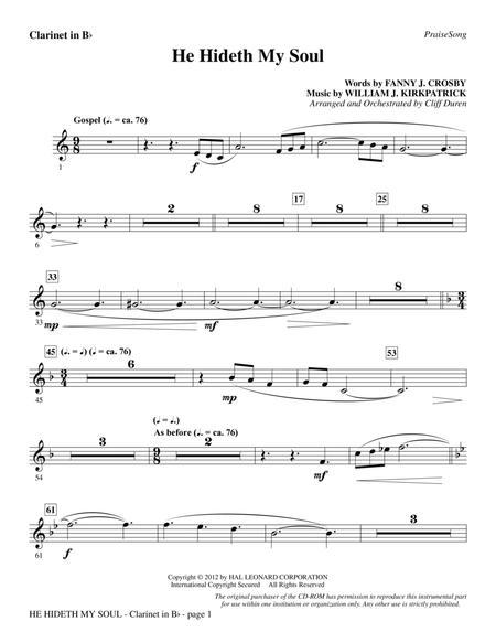 He Hideth My Soul - Bb Clarinet