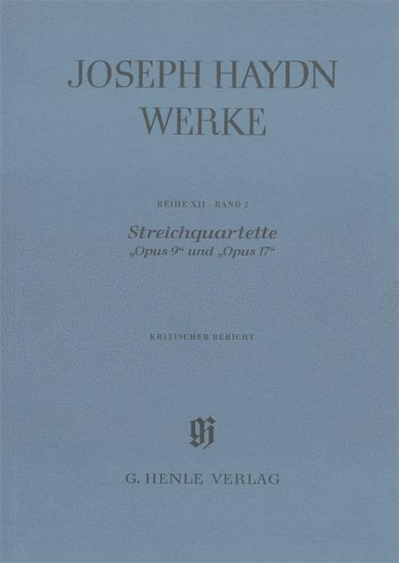 String Quartets, Op. 9 and Op. 17