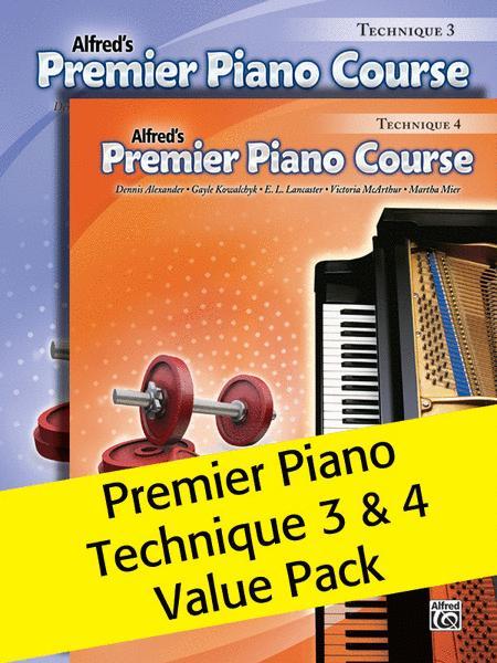 Premier Piano Course, Technique 3 & 4 (Value Pack)