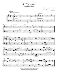 Six Variations On A Swiss Song In F Major, WoO 64