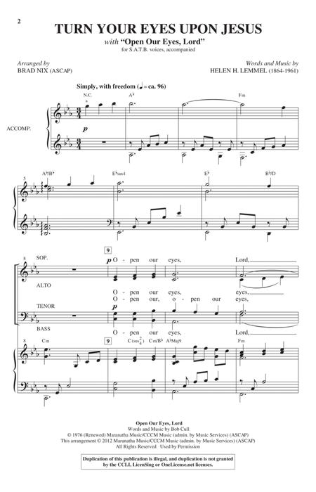 Download Turn Your Eyes Upon Jesus Sheet Music By The Newsboys
