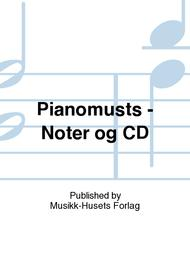 Pianomusts - Noter og CD