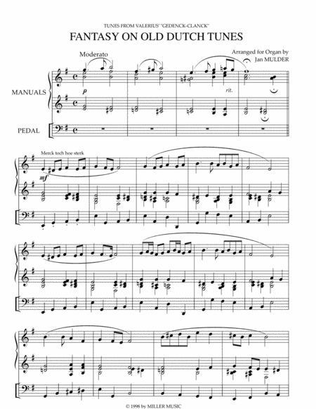 Fantasy on Old Dutch Tunes - Solo Organ