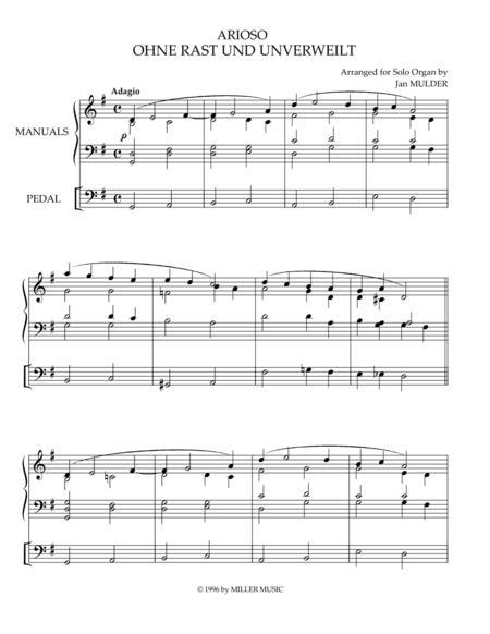 Ohne Rast Und Unverweilt - Orgel Solo